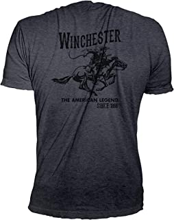 2af1b0d5 Winchester Official Men's Vintage Rider Graphic Printed Short Sleeve T-Shirt