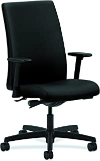 HON Ignition Series Mid-Back Task Chair - Upholstered Computer Chair for Office Desk, Black (HIWM2)