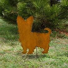 Yorkshire Terrier metal stake - Metal Yorkie outdoor stake - Flowerbed Yorkie marker - Rusty Yorkie memorial - outdoor living art