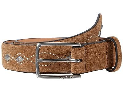 rag & bone South Dress Belt (Camel Suede) Women