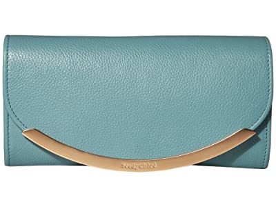See by Chloe Lizzie Wallet (Mineral Blue) Handbags
