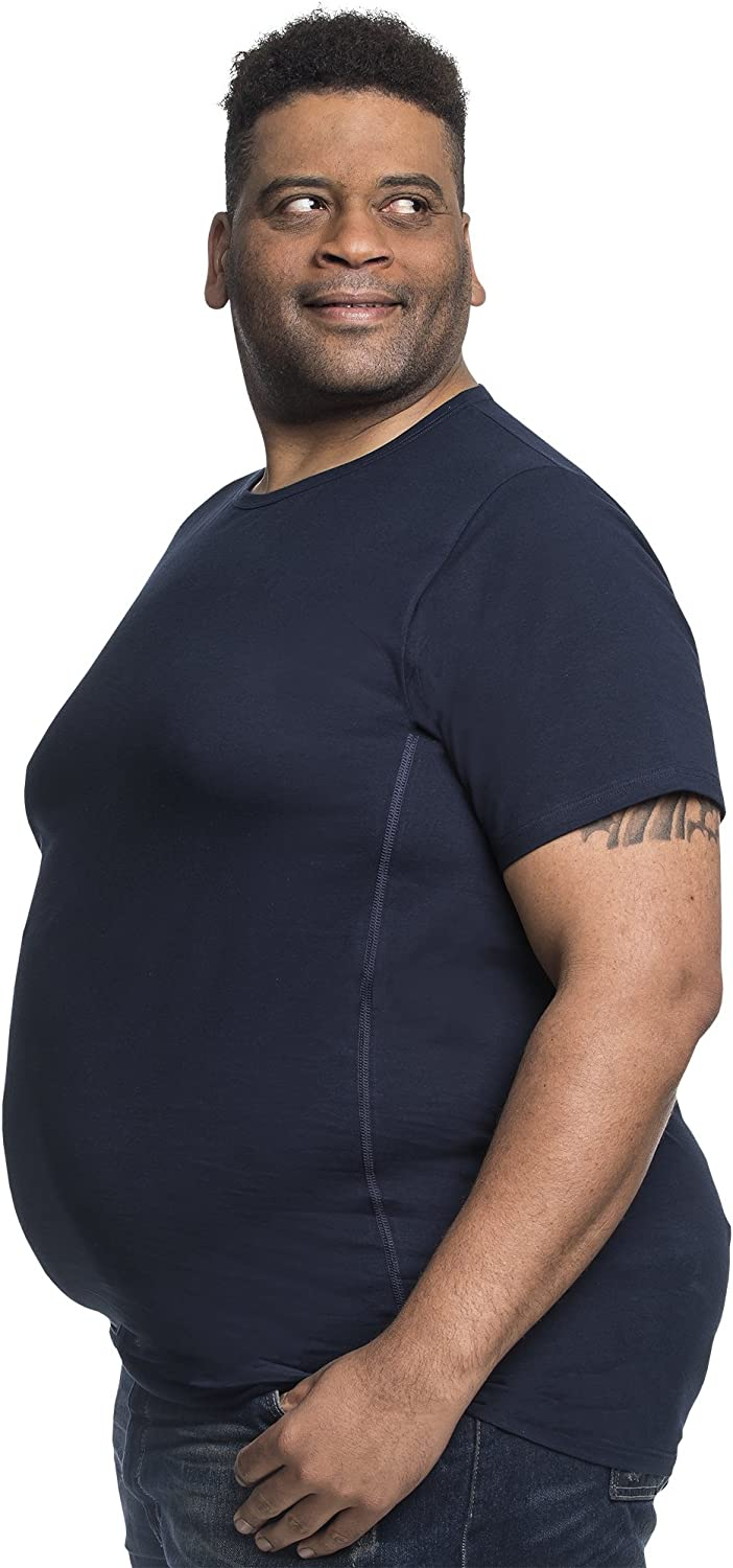 Alca Classic 2pack T-Shirt Crew Neckline for a Big and Tall Size XXL to 8XL