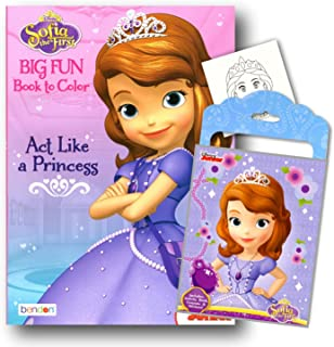Princess Sofia the First Coloring Book Pack with Stickers, Crayons and Coloring Activity Book Bundled with 1 Separately Licensed GWW Specialty Reward Sticker