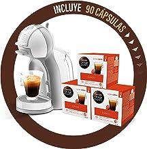 Pack Krups Dolce Gusto Mini Me KP1201 - Cafetera de cápsulas, 15 bares de presión, color blanco y gris + 90 cápsulas de café Lungo