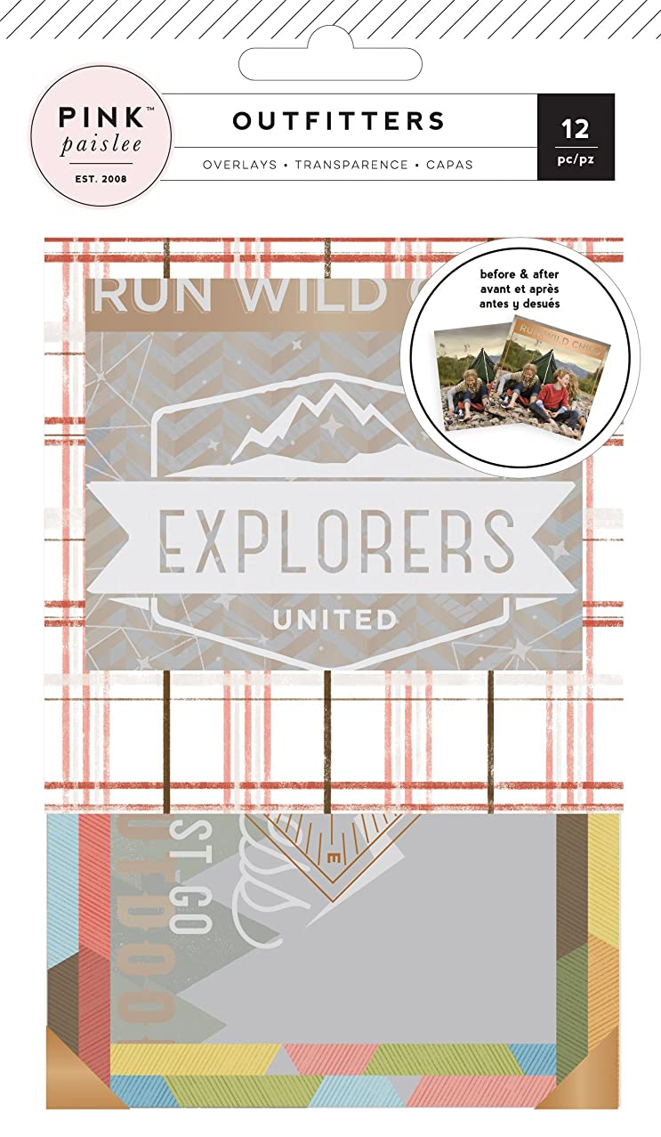 Outfitters Photo Overlays 12/Pkg-Copper Foil & White Ink Accents