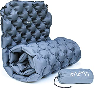 Sleeping Pad Inflatable Camping Mattress - Lightweight Camping Mat for Hiking, Backpacking, Festivals, Outdoors - Easy to Inflate Camping Pads for Sleeping - Abrasion-Resistant Nylon Camping Air Pad