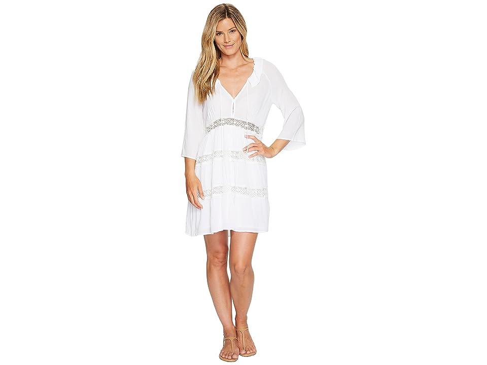 Stetson 1056 Crepe 3/4 Sleeve Dress (White) Women