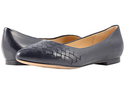 Trotters Estee Woven (Navy Woven Leather) Women