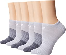 Originals Blocked Space Dye No Show Sock 6-Pack