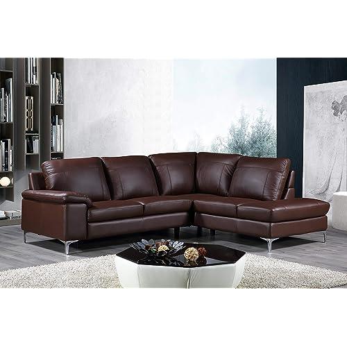 Genuine Leather Sectionals: Amazon.com