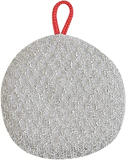 サンベルム(Sanbelm) タワシ シルバー 約9×1.5×9cm スキレット 鉄なべ用 K63115