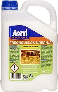 Asevi Profesional 21160 - Fregasuelos naranja concentrado, 5 l, pH neutro