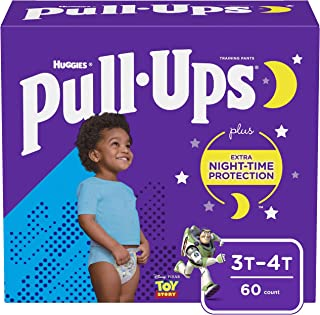 Pull-Ups Night-Time Boys` Training Pants, 3T-4T, 60 Ct