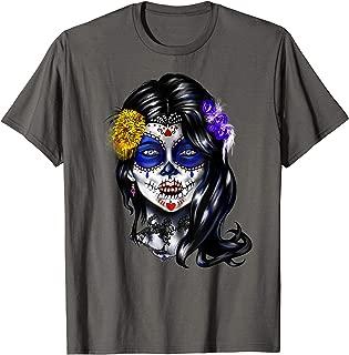 Dead-Day Sugar-Skull Beautiful Woman  T-Shirt