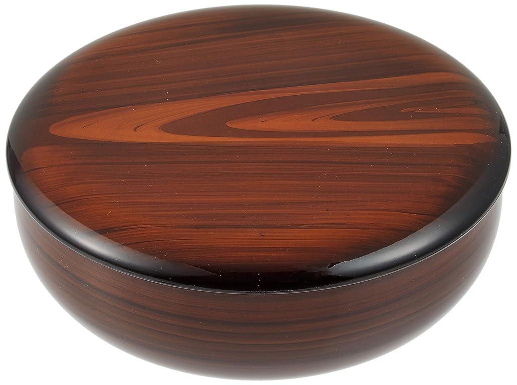 にぎやか上に強化する橋本達之助工芸 菓子器 木目調 18cm (日本の手作りの逸品です)