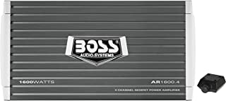 BOSS Audio Systems AR1600.4 Armor 1600 Watt, 4 Channel, 2 4 Ohm Stable Class AB, Full Range, Bridgeable, Mosfet Car Amplifier with Remote Subwoofer Control