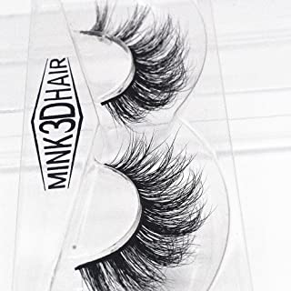 6b16a814333 WENSY 1 pair of luxurious 3D thick mink hair false eyelashes fluffy stripe  eyelashes long natural