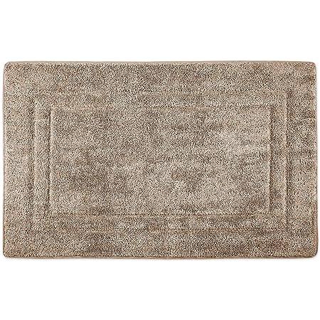 WohnDirect Alfombrilla de baño Crema • Memory Foam • Antideslizante y Lavable – 50 x 80 cm