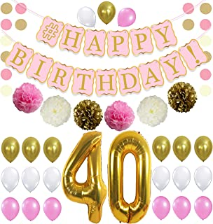 Best rose gold 40th birthday decorations Reviews