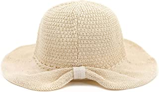 QinMei Zhou Spring and Summer Outdoor Beach Sun hat Female Korean Version of The Dome Folding Basin Cap Visor Fisherman hat (Color : Beige, Size : One Size)