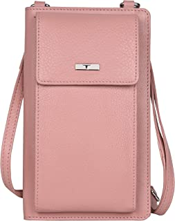 Urban Forest Ruby Pink Leather Mobile Pouch/Sling Wallet for Women