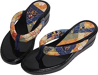 [株式会社ハセガワ] 普段着や浴衣にも似合う 「和柄サンダル」歩きやすいウレタンソール (パープル・紺・ブラウン) S・M・Lサイズ 日本製