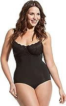 HookedUp Women's Plus Size Strapless Shapewear Firm Tummy Control Slimming Girdle High Waist Panty Body Shaper Brief, Black, Medium