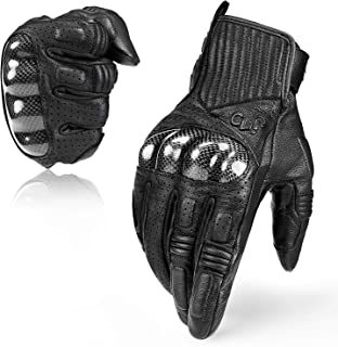 Best carbon fiber knuckle motorcycle gloves Reviews