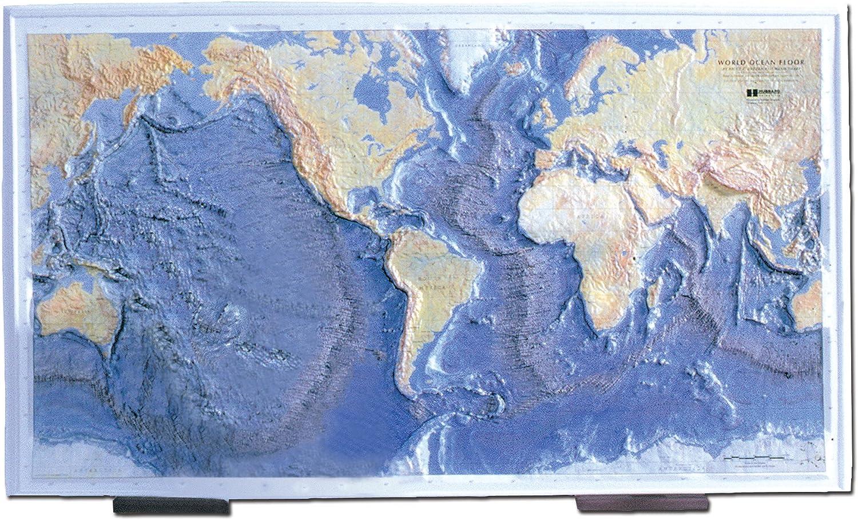 Hubbard Scientific Ocean Floor Raised Relief Map, 26  x 39