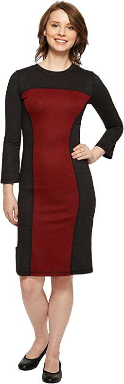 Reversible Long Sleeve Panel Dress