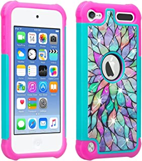 Wydan Compatible iPod Touch Case, Studded Bling Shockproof Cover for Girls Kids - iPod Touch 7th Generation Case iPod Touch Case 6th Generation
