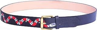 Men's Coral Snake Print 38-mm Italian Leather Belt