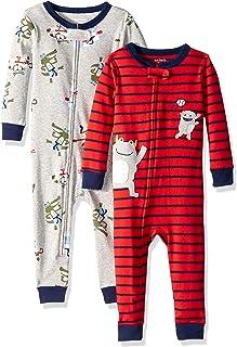 Boys' 2-Pack Cotton Footless Pajamas