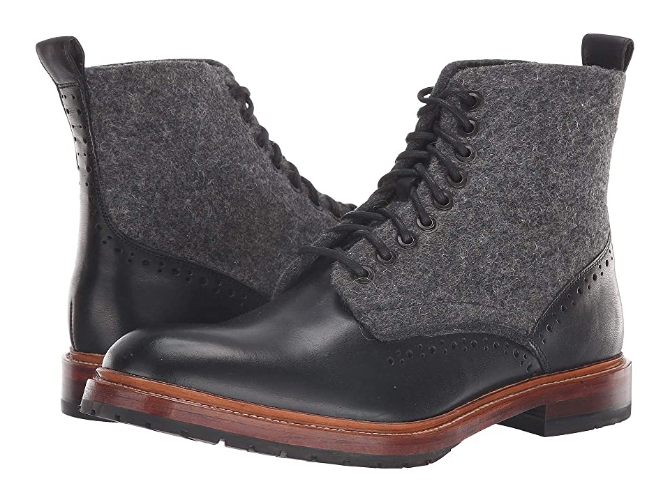 Stacy Adams M2 Plain Lace-Up Boot (Black) Men