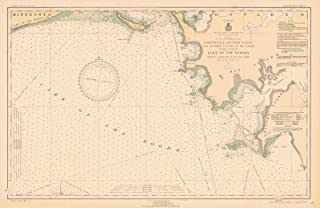 Map - Lake Of The Woods, 1931 Nautical NOAA Chart - Vintage Wall Art - 66in x 44in