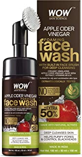 Sponsored Ad - WOW Skin Science Apple Cider Vinegar Foaming Face Wash - with Organic Certified Himalayan Apple Cider Vineg...