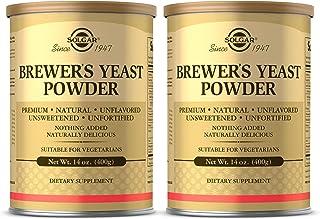 Solgar Brewer's Yeast Powder, 14 oz - 2 Pack - Rich Source of Amino Acids, B-Complex Vitamins, Minerals, & Protein - Natur...