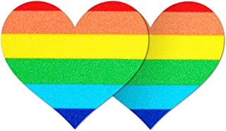 Nippies Style Rainbow Heart Waterproof Self Adhesive Nipple Cover Pasties