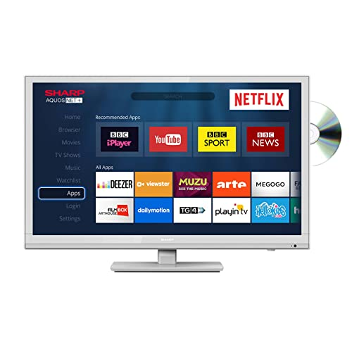 180d70d2206 Sharp LC-24DHG6001KW 24 Inch HD Ready LED Smart TV with Freeview HD and  built