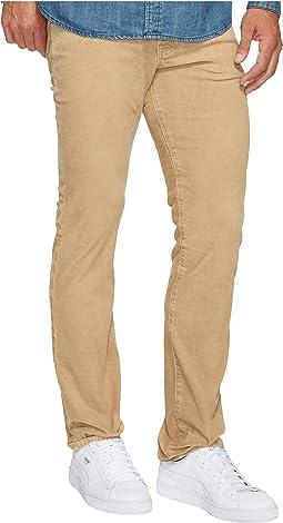 AG Adriano Goldschmied - Matchbox Slim Straight Leg Stretch Cordoury in Sulfur Silica Sand