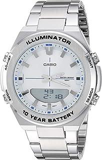 Men's Illuminator Quartz Watch with Stainless-Steel Strap, Silver, 22.9 (Model: AMW-860D-7AVCF)