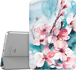 MoKo Case Fit iPad Mini 3/2 / 1, Slim Lightweight Smart Shell Stand Cover with Translucent Frosted Back Protector Fit Apple iPad Mini 1 / Mini 2 / Mini 3, Peach Blossom (with Auto Wake/Sleep)