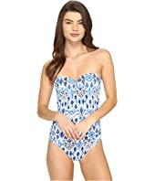 Tommy Bahama - Ikat V-Front Bandeau One-Piece