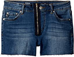 The Bruna Fray Hem Zipper Shorts (Big Kids)