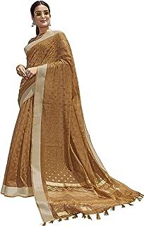 Gaurangi Creation Women's Cotton Printed Saree with unstitched blouse piece