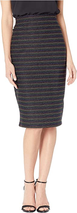 Multi Stripe Jacquard Skirt