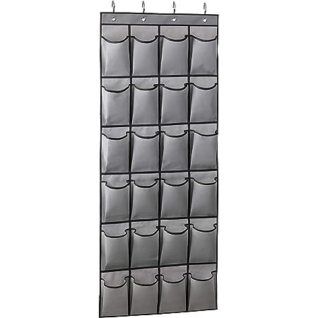 KIMBORA 2 Pack Over the Door Shoe Rack Organizer 24 Large Mesh Pockets Hanging