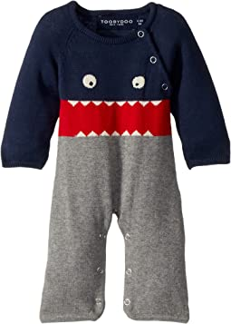 Little Monsters I Cotton Knit Jumpsuit (Infant)