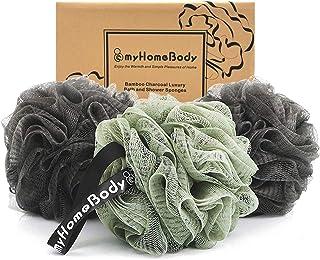 Large 70g Loofah Sponge, Body Scrubber, Bath Sponge, Luxury Loofah for Women, Men | Gentle Exfoliating Sponge - Body Wash ...