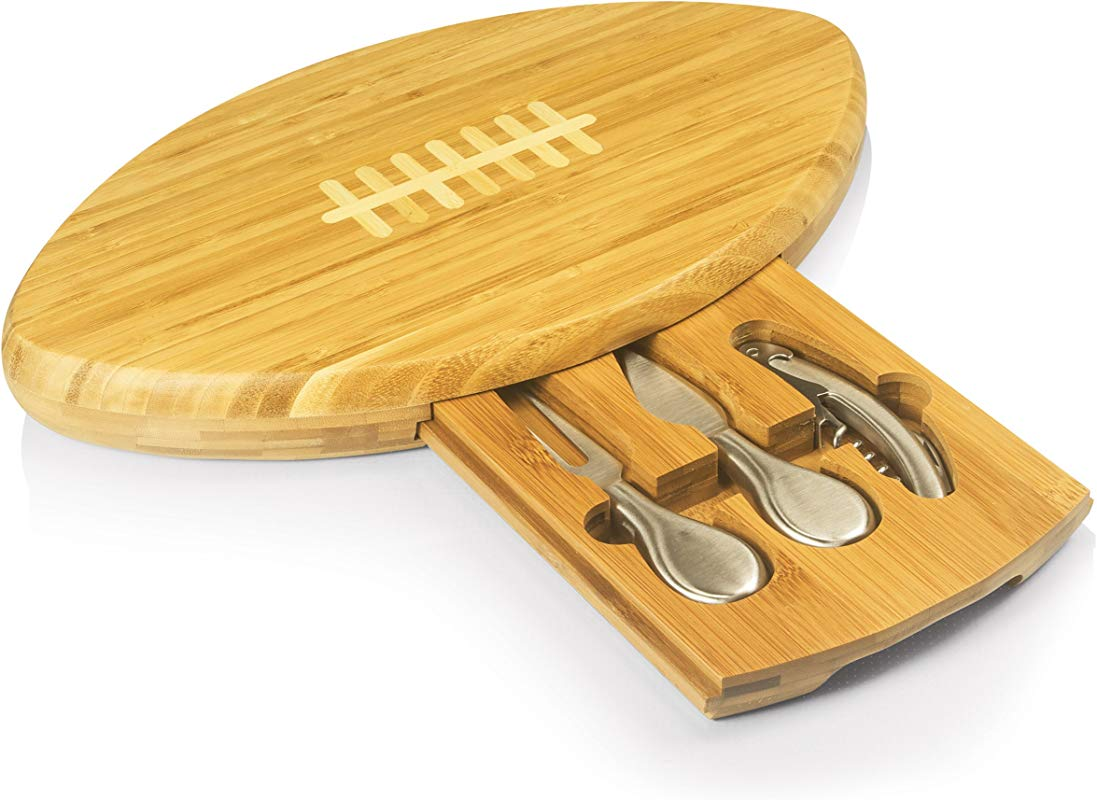 TOSCANA A Picnic Time Brand Quarterback Cheese Board And Tool Set 15 Inch